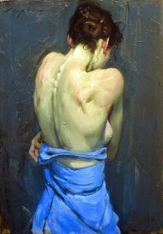 Malcolm Liepke - Woman's Back, 2014, oil on canvas