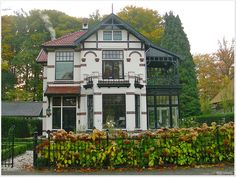 Dutch Jugendstil Villa in Chalet style, Apeldoorn, The Netherlands.