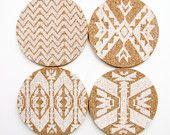 Mojave:  Letterpress Coasters - Set of 4