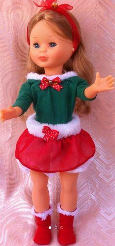 Linda Nancy tenista con conjunto de navidad artesanal