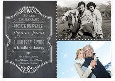 Invitation anniversaire de mariage sous forme de pêle-mêle pour vos noces de perles, 30 ans d'amour à célébrer ! ref N14026