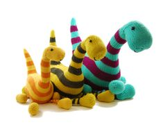 Basil the Boogie-Woogie Brontosaurus Knitting Pattern Pdf INSTANT DOWNLOAD - Etsy