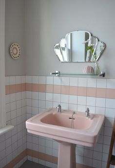 Sophie & Nick's Colorful Victorian Townhouse: perfect - Great idea to mount plates to the bathroom wall!