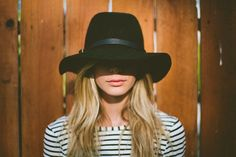{stripes + hat} love the mystery in this photograph