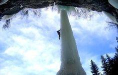 climbing the Fang in Vail colorado