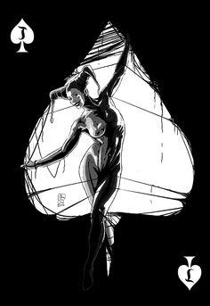 Jester woman pin up art. Fantasy Illustration, Pin Up Art, Pin Up Girls, Harley Quinn, Female Art, Comic Art, Art Drawings, Sci Fi, Art Gallery
