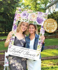 Bridal Shower Ideas - Wedding Ideas - Bridal Shower Decorations - Photo Booth Ideas - Bridal Shower Games - Purple Darling Flora Photo Prop by CreativeUnionDesign.Etsy.com #bridal