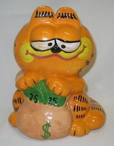 Vintage Garfield Ceramic Bank