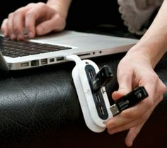 Protect your USB drive from accidental bumps with this flexible USB Hub.  #YouDontShopYouHUNT #technology