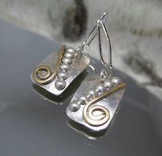 Small sterling silver shield earring by stoneandsterling on Etsy, $35.00