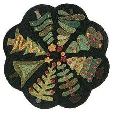 From primitive quilts winter 2018 Penny Rug Patterns, Wool Applique Patterns, Felt Patterns, Felt Applique, Applique Quilts, Wool Mats, Wool Wall Hanging, Primitive Quilts, Felted Wool Crafts