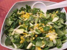 Fruchtiger Wintersalat mit Feldsalat und Chicoree #salat #salad