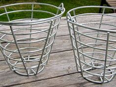 Metal Golf Ball Basket by tucasa on Etsy, $12.00 - I LOVE using these for storage!