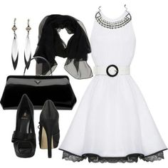 BLACK & WHITE COMBO-VERY CLASSIC, AS WELL AS CLASSY!!!