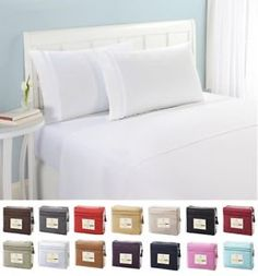 1800 COUNT DEEP POCKET 4 PIECE BED SHEET SET - 26 COLORS AND ALL SIZES AVAILABLE  $14.99  $99.99  (27301 Available) End Date: Apr 272016 07:59 AM GMT-07:00