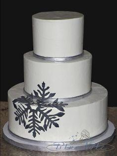 Snowflake Winter Wedding   Blue Note Bakery - Austin, Texas