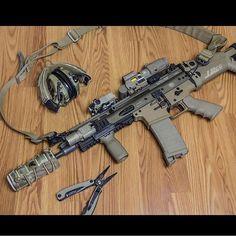 Suppressed FNH SCAR 16 SBR