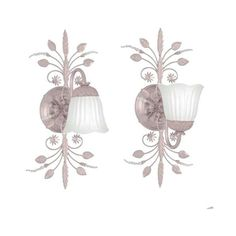 Crystorama Lighting Group 4741 Primrose 1 Light Floral Wall Sconce (€84) ❤ liked on Polyvore featuring home, lighting, wall lights, blush, indoor lighting, wall sconces, flora lights, wall mounted lamps, blush lamp and floral lamps