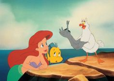 Buddy Hackett, Jodi Benson, and Jason Marin in The Little Mermaid Disney Frozen, Disney Pixar, Disney Characters, Fictional Characters, Disney Posters, Disney Cartoons, Buddy Hackett, Ariels Sisters, Belle Beauty And The Beast