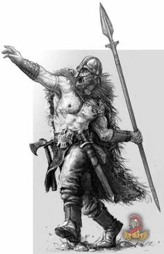 Before a battle, a viking would throw a spear as far as he could deep into the n… – Norse Mythology-Vikings-Tattoo Vikings, Viking Art, Viking Symbols, Fantasy Character Design, Character Art, Fantasy Kunst, Fantasy Art, Guerrero Tattoo, Viking Battle
