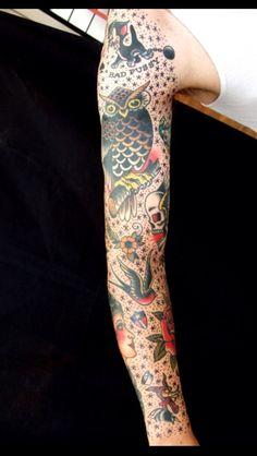 Sailor Jerry sleeve tattoo!