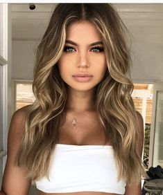 Balayage Blonde Ends - 20 Fabulous Brown Hair with Blonde Highlights Looks to Love - The Trending Hairstyle Hair Color Highlights, Hair Color Balayage, Ombre Hair, Blonde Highlights For Brunettes, Highlighted Hair For Brunettes, Highlights Around Face, Front Highlights, Bayalage, Hair Colour
