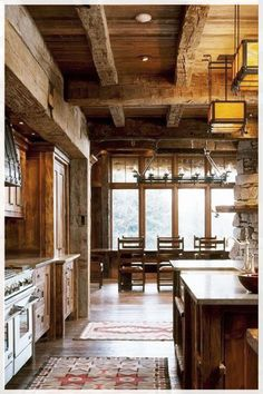 If you are one of the people who love rustic also want to change your kitchen style then this article is for you!Take a look at this 15 Ideas of stunning rustic kitchen design. Industrial Style Kitchen, Rustic Kitchen Design, Farmhouse Style Kitchen, Rustic Farmhouse, Farmhouse Plans, Farmhouse Interior, Kitchen Interior, Kitchen Decor, Kitchen Wood