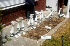 Our House And Garden - Removal Of  Concrete Baluster