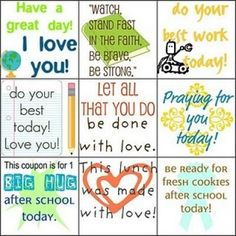 Printable Lunch Love Notes