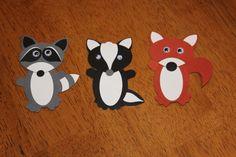 raccoon, skunk, fox punch art * no further link Paper Punch Art, Punch Art Cards, Paper Art, Paper Crafts, Skunk Craft, Art For Kids, Crafts For Kids, Skunks, Raccoons