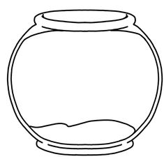 Blank Fishbowl Placemat-- so many activities you can do with one fish two fish red fish blue fish