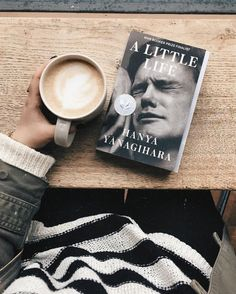 Escaping the freezing rain with a cinnamon latte & the first few pages of a new book 🌧 . I'm so excited to finally start A Little Life—… I Love Books, New Books, Good Books, Books To Read, A Little Life Book, Book Flatlay, Book Instagram, Coffee And Books, Books For Teens