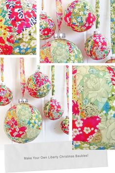 Liberty Christmas Baubles – Deck the Balls with Liberty fa la la la la
