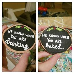 Here are both sides  I feel like I need to be featured on #buzzfeed or SOMETHING bc this is funny y'all lol Ill be adding this reversible ornament to the shop shortly but will get better pics tomorrow. . . . #marijuana #weedstagram420 #booze #alcohol #funny #lol #someonemakemefamous #buyallmystuff #viral . . . #ornaments #christmas #makers #handmade #etsyseller #etsymom #wahm #bossbabe #instagood #happy #flashesofdelight #etsyfeatures