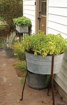Farm antiques make great DIY home projects such as turning a cream separator into a lamp base, a galvanized wash tub into a planter, and other farm scraps into nifty and useful items.