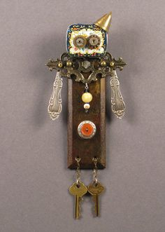 Donna Sophronia-Sims ASSEMBLAGE ART DOLL  Mix media assemblage by CastOfCharacters23, $38.00