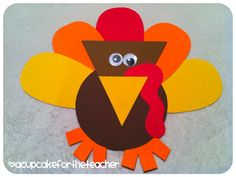 A Cupcake for the Teacher: Thankful Turkeys {Craftivity & Printables}
