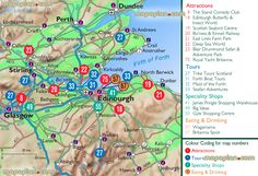 Image result for scotland tourist attractions map