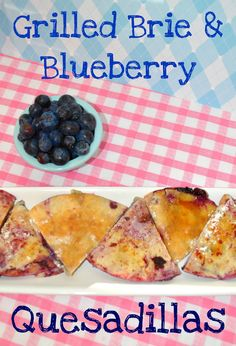 Brie & Blueberry Quesadillas so easy and yummy!  Perfect for a party or wine tasting!