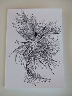 Handcrafted Zentangle, Zendoodle Blank Greeting card: Amazon.co.uk: Office Products