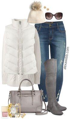Plus Size Grey Boots Outfit - Plus Size Winter Outfit - Plus Size Fashion for Women - alexawebb.com #plussize #alexawebb