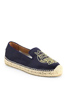Marc by Marc Jacobs Owl Satin Espadrille Flats