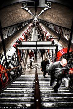 London Underground - Clapham Common Tube Station, London, England