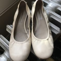 Vera Lavender creme loafer These are sophisticated & great leather quality. Worn but still in good condition. Color is ivory.  Vera Wang Shoes Flats & Loafers