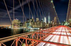 Manhattan Lights over Brooklyn  City and architecture photo by christianvercruysse http://rarme.com/?F9gZi