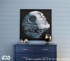 Oh pottery barn...I can't afford you but this  would be perfect for my little Star Wars nerd.