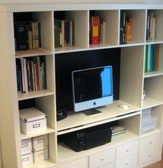 sorriso a 365 giorni: Paroladordine: organizzare lo studio (1) - trasforma la libreria in una scrivania, aggiungendo un piano estraibile