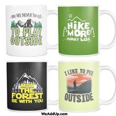 Four of our new Hiking Mugs!  Which is your favorite?  Get them at WeAddUp.com  #hiking  #camping  #hike  #camp  #marchagainstmonsanto  #monsantosucks  #stopmonsanto  #fuckmonsanto  #labelgmos  #boycottmonsanto  #naturelovers  #naturehippys  #nature_seekers  #naturewalk