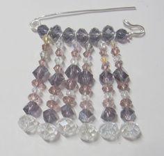 Shawl pin kilt pin or brooch pin. Swarovski crystal by eryka91