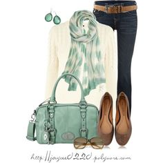 """Mint, Cream and Tan"" by jaycee0220 on Polyvore"